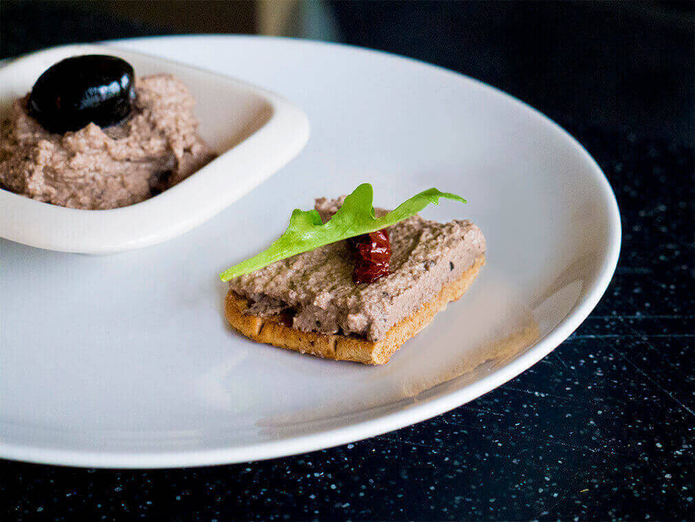 olive walnut and mushroom pate