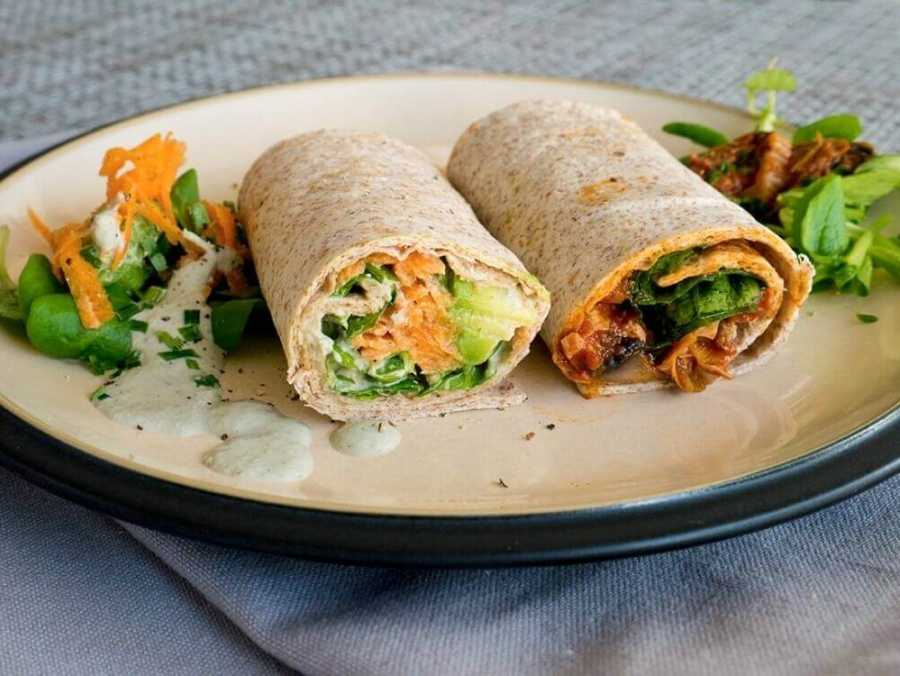 Quick tortilla wraps two ways