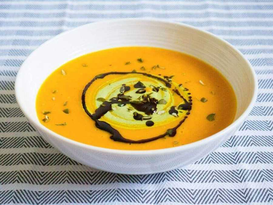 Butternut squash and orange soup