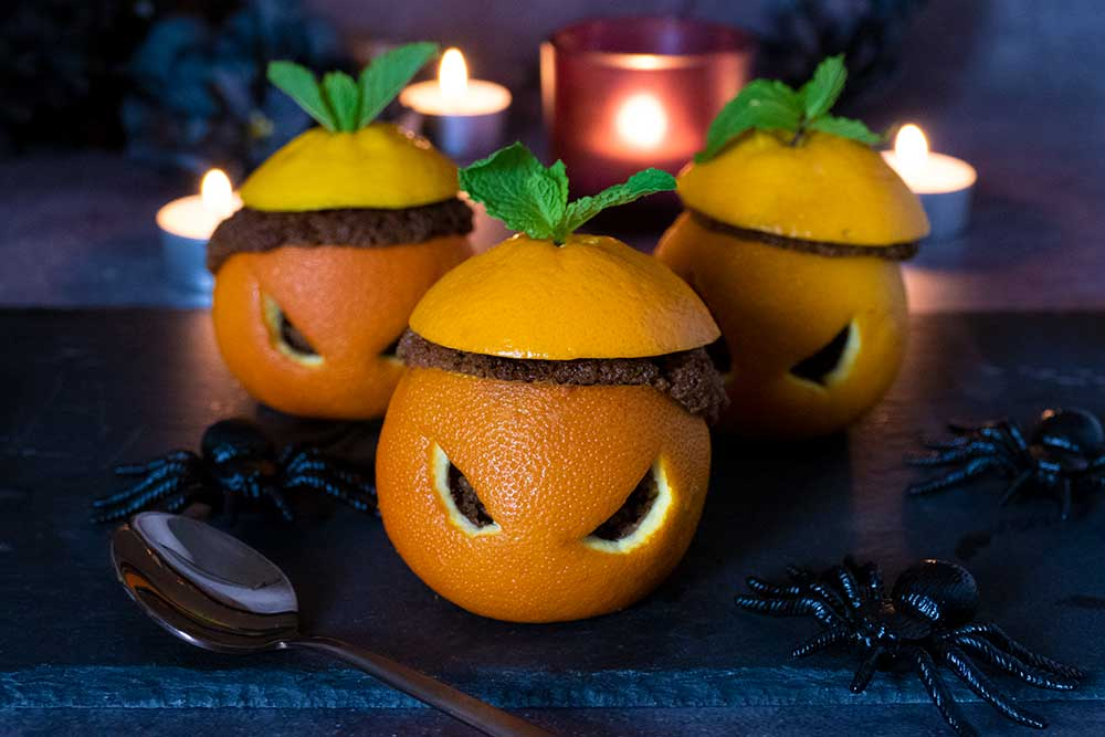 Halloween chocolate orange cupcakes