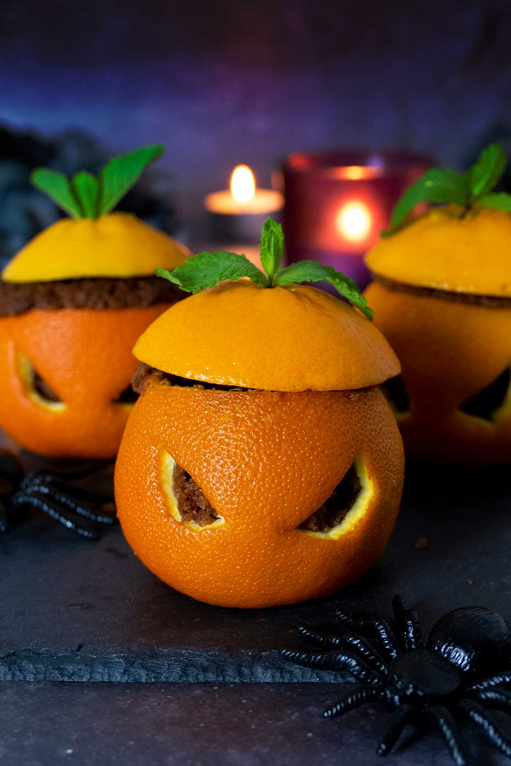 Best vegan Halloween recipe - easy chocolate orange cupcakes