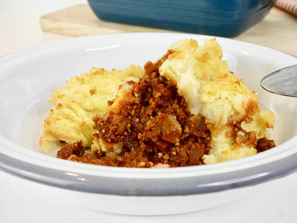 Who doesn't love vegan cottage pie
