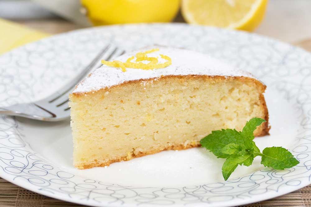 Lemon semolina cake - vegan