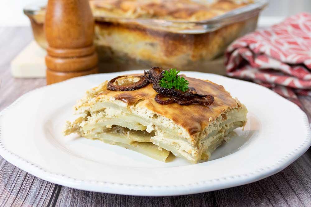 Easy vegan potato gratin