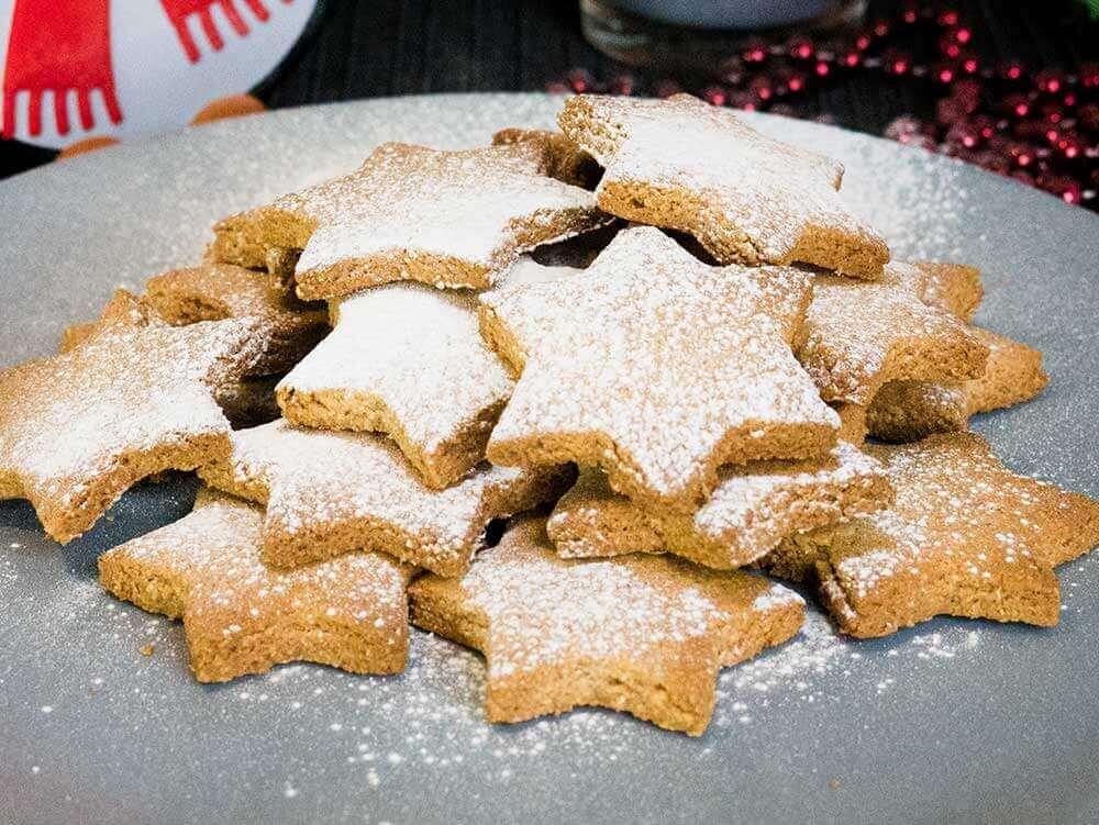 Vegan Cinnamon Star Cookies