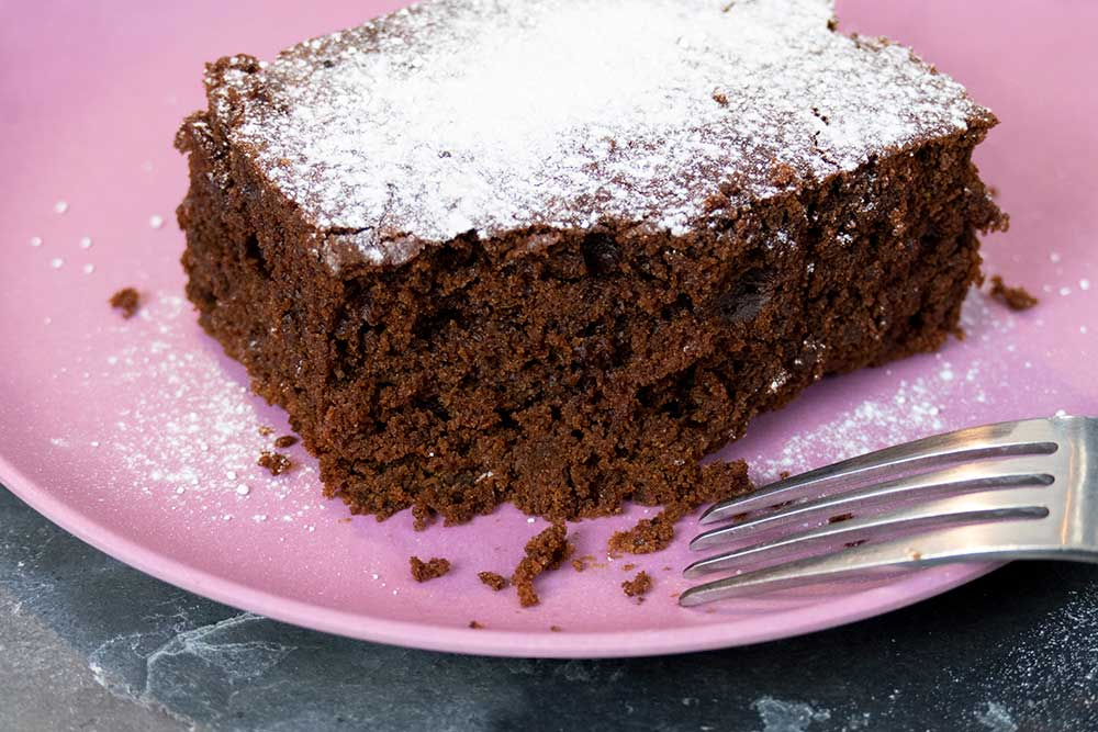 easy chocolate brownie recipe from exceedingly vegan