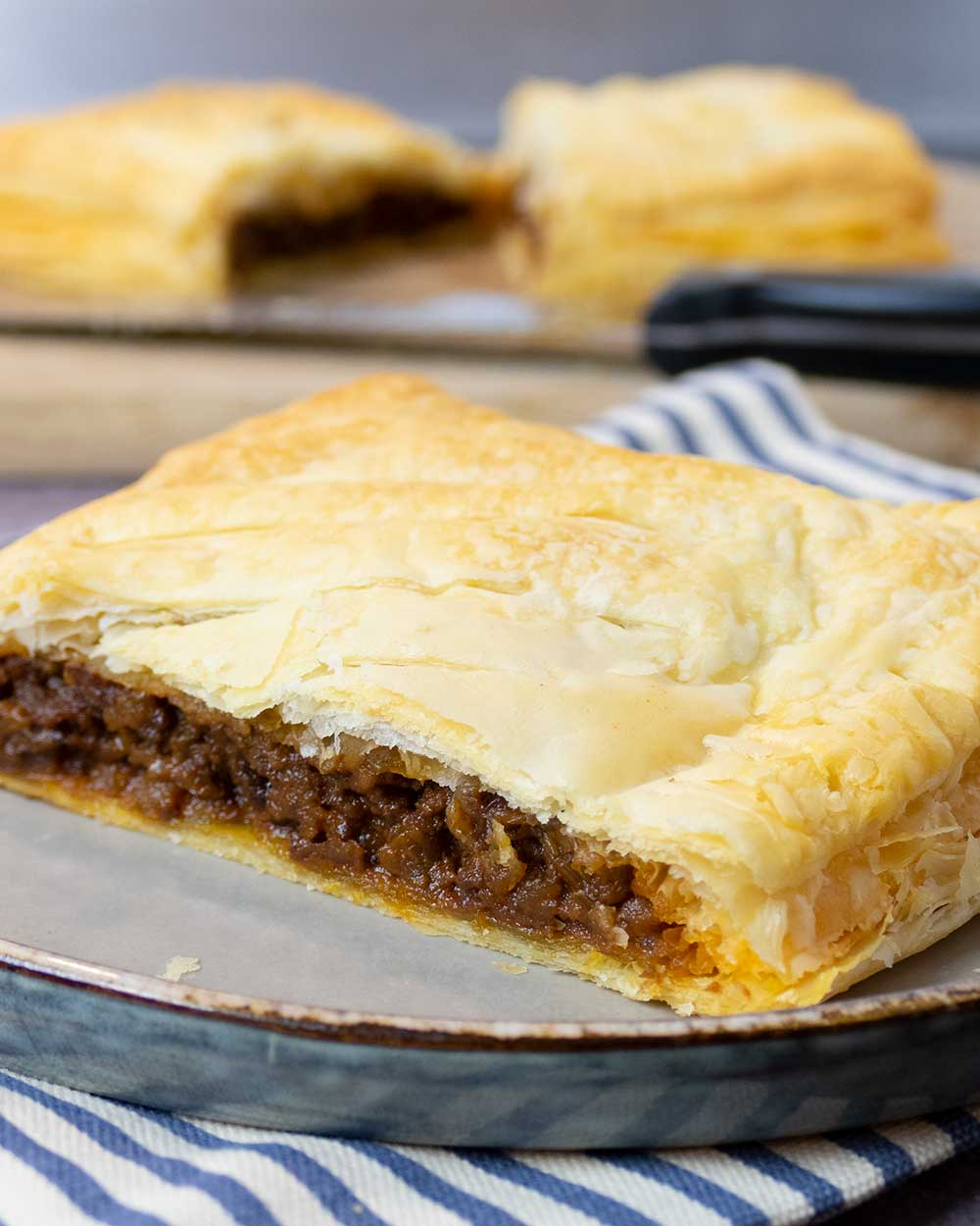 Plant-based puff pastry steak bake recipe that's easy to make