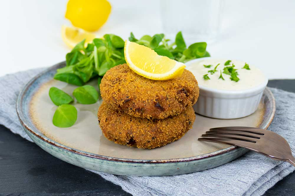 Easy vegan fish cakes