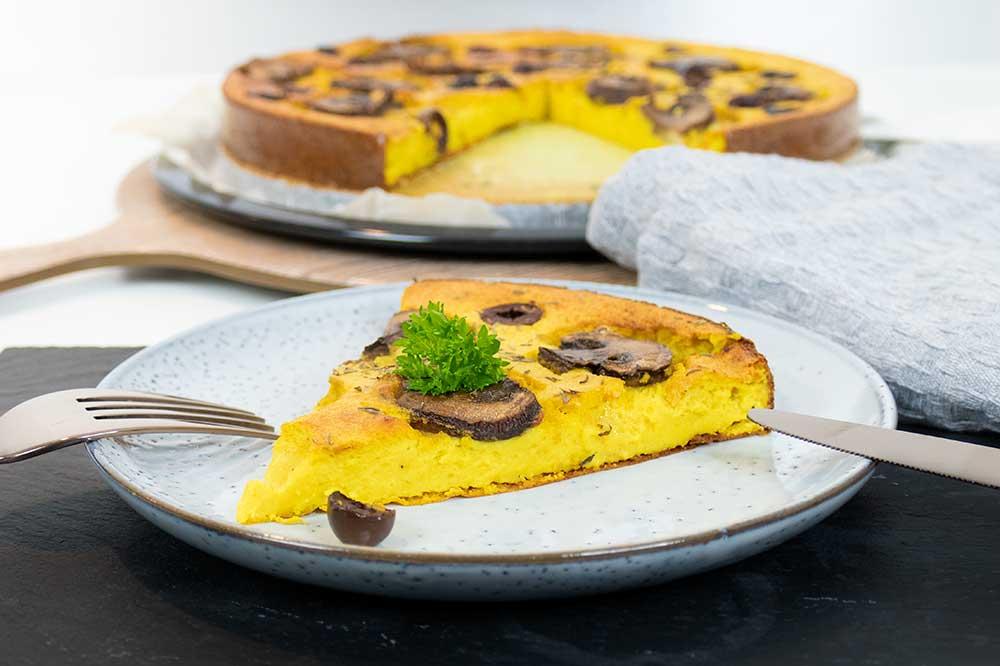 Easy vegan frittata - gluten-free