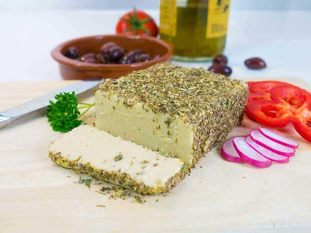 herb-crusted cashew cheese recipe