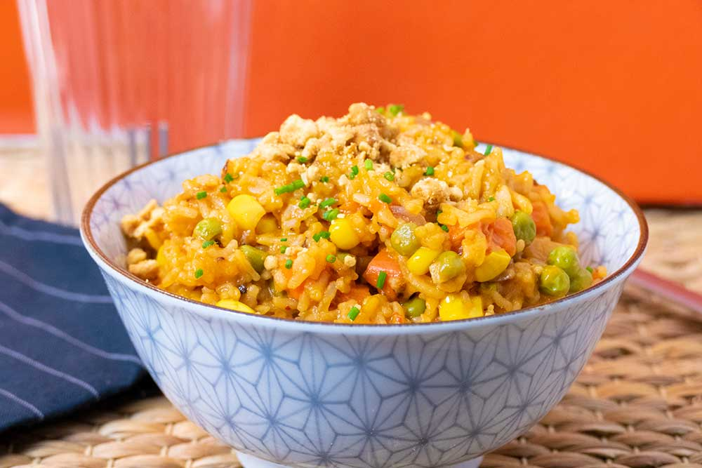 One-pot coconut veggie rice - vegan