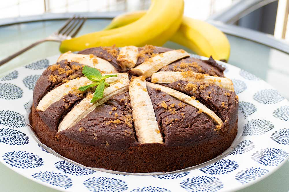 Flourless chocolate banana cake - gluten-free