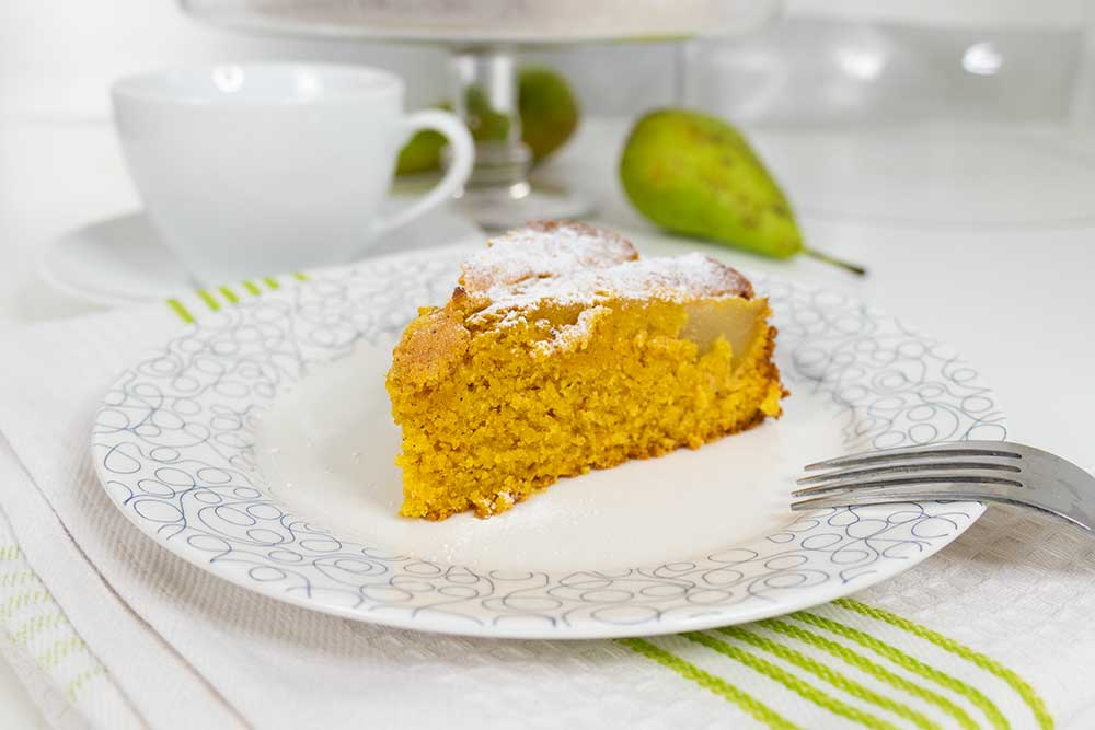 Easy vegan pear cake - exceedinglyvegan.com