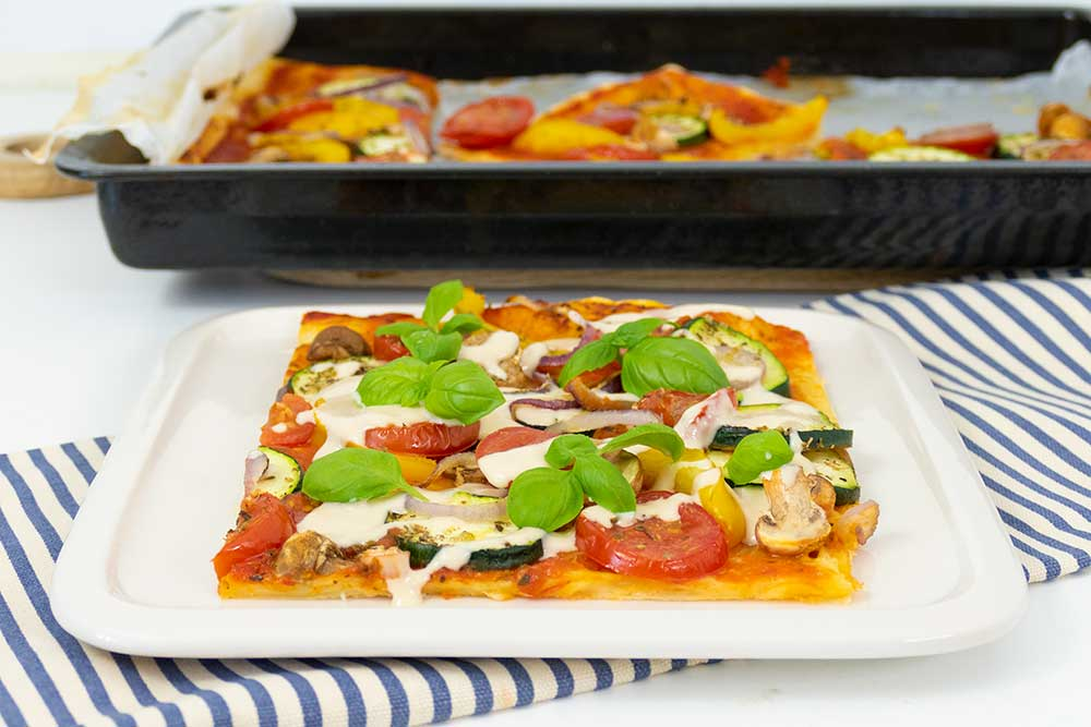 Easy leftover veggie tart