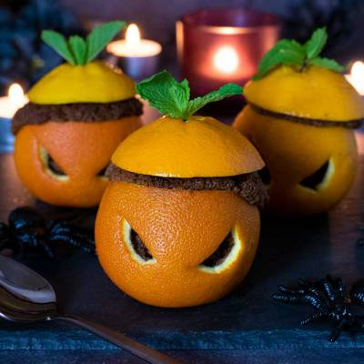 Halloween chocolate orange cupcakes - exceedinglyvegan.com