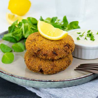 Easy vegan fish cakes - exceedinglyvegan.com