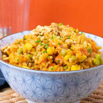 One-pot coconut veggie rice - vegan - exceedinglyvegan.com