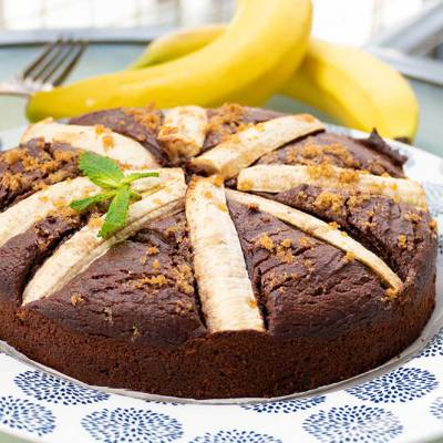 Flourless chocolate banana cake - gluten-free - exceedinglyvegan.com