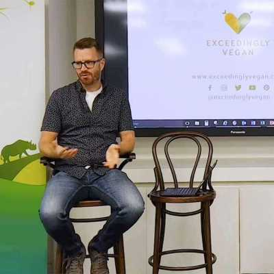 Philipp from Exceedingly vegan talks about going vegan at Discovery in London - exceedinglyvegan.com