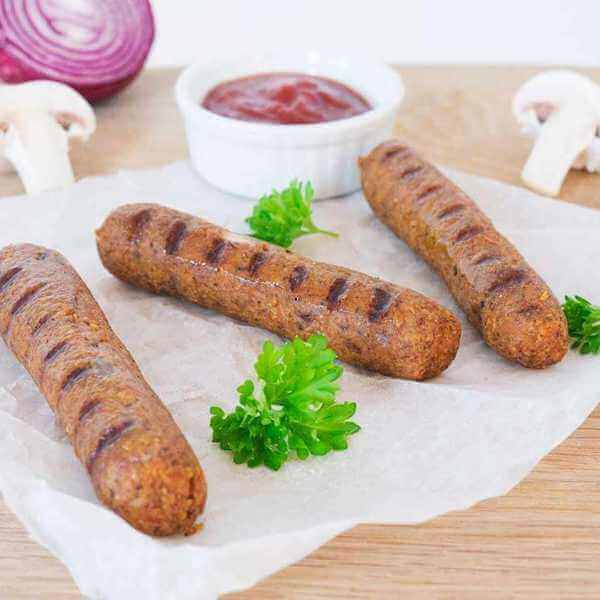 Easy vegan sausages