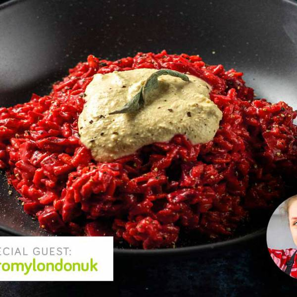 Special guest recipe: beetroot risotto with tofu ricotta