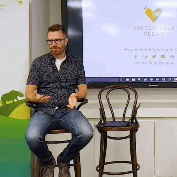 Philipp from Exceedingly vegan talks about going vegan at Discovery in London